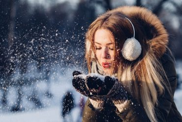 Gleitsichtkontaktlinsen im Schnee